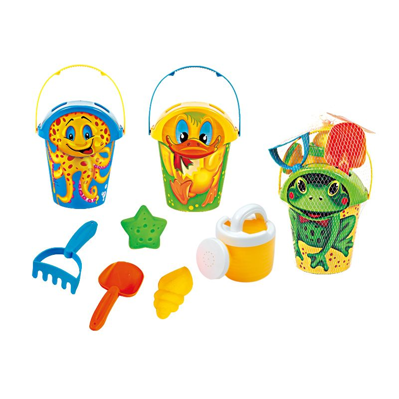 Beach set_bucket set with animal logo