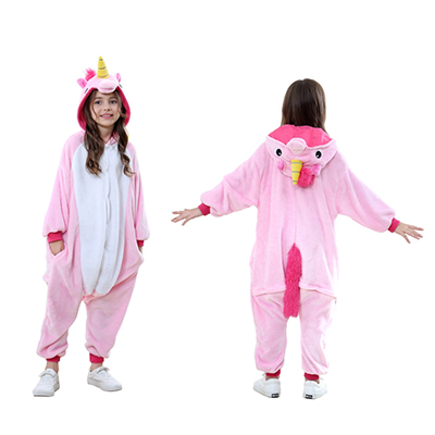 Animal Onesie kids pink unicorn