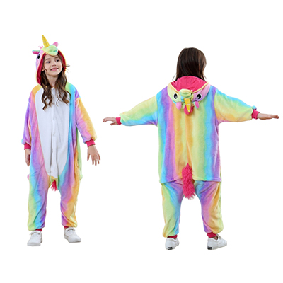 Animal Onesie kids rainbow unicorn