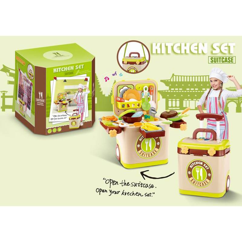 Pretend play toys_suitcase kitchen set TTA1098