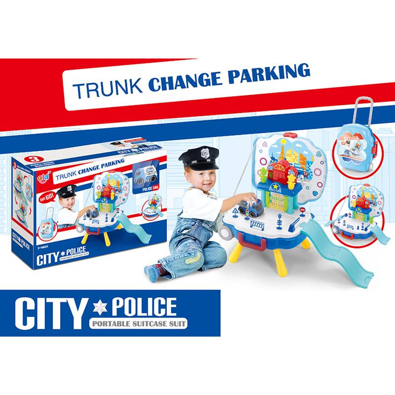Pretend play toys_Suitcase parking set TTR1478